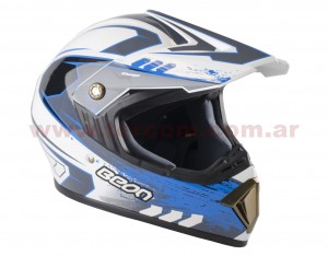 CASCO CROSS B600 BLANCO/AZUL T/XL BEON